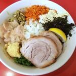 鷹の目 - 料理写真:【限定】ニボニボまぜそば950円+豚1枚(100円)+牡蠣ペースト(50円)