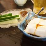 美琉太陽 - ・じーまみー豆腐 380円 ・クースみそのもろきゅう 380円