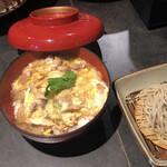 139398300 - 河内鴨の親子丼と蕎麦:¥1,050