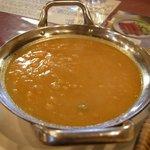 Shanti インド料理レストラン - ランチカレーはダールタルカを選びました。