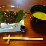 139414260 - わらび餅と抹茶