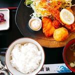 前浜 - ミックスフライ定食