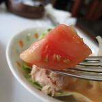 レモン - 【ホワイトカレースパゲッティ】積極的に野菜はとらないとね...