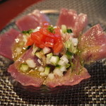 温泉山荘 だいこんの花 - 料理写真:夏採り野菜と鰹のカルパッチョ