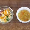 ノマキチ - 料理写真:注文してから出てくるまでに25分かかるサラダとスープ