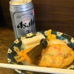 丸健水産 - 料理写真:2012.7 おでんセット(700円)酒は日本酒、ビール、チューハイから選べます