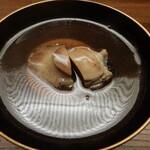 Kiyama - 香茸のすり流し,とこぶし,玉子豆腐