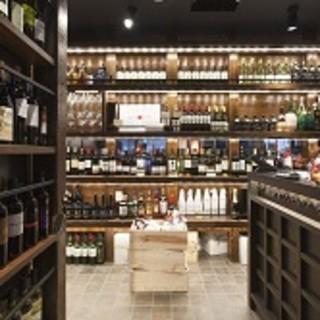 圧巻のワインセラー