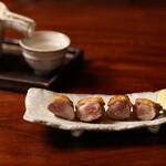 蒼天 - 料理写真:希少部位そり(もも肉の付け根)