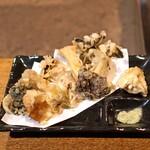 柳家 - 野生きのこの天ぷら