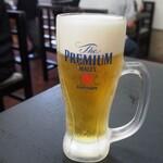 味の店 一番 - 生ビール(プレモル)