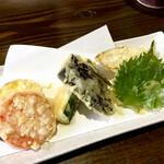 そば丸 - 本日の天ぷら(野菜5品) ¥500 (税抜)