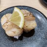 回転寿司 ととぎん - 北海道産 炙り貝柱