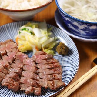 最高級の極上牛たん定食1,760円(税込)