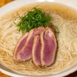 立呑み とだか - 2020.10 鴨葱素麺(大盛り)