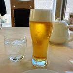 Tenkai - 相変わらず上手なビール780円(税別)&麦焼酎ロック770円