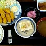 やま - カキフライ定食 ¥900