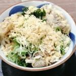 竹清 - 料理写真:舞茸天ぷら、肉うどん(大盛り)
