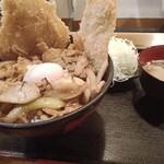 キッチン男の晩ごはん 女の昼ごはん - スタミナ野郎丼(うま豚)820円