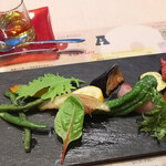 139488863 - 農園から届いた季節野菜を使用した ホットベジタブル