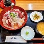 日本料理みうら - 海鮮丼スペシャル定食1700円を今回は1500円にて