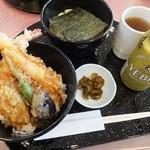 天丼やトップライト - 【海老丼と平麺  ¥1.300】