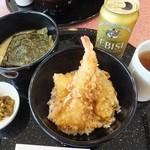 天丼やトップライト - 【小さな天丼と平麺  ¥950】