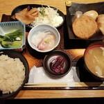 仙台旬風 冨和利 - 豚トロ&塩釜おでん定食(1000円)
