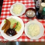 洋食 大吉 - スペシャルハンバーグ&エビフライ