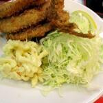 洋食 大吉 - 付け合わせのサラダ