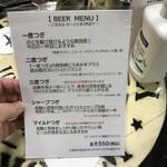 Birusutandoshigetomi - メニュー