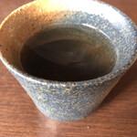 手打そば 末広 - 温かい蕎麦茶❤️いい香り(o^^o)