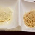 スイーツパラダイス - ハーゲンダッツアイス。左、バナナ、右、マロン