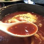 つけ汁うどん あくつ - スープ