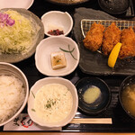 まるかつ - かきフライ定食