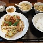 シーメンハン - 回鍋肉定食850円