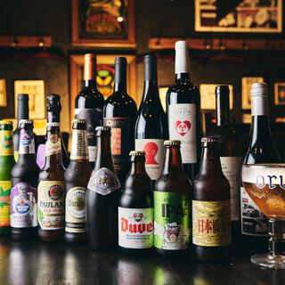 種類豊富❗️ラム肉と相性抜群のクラフトビール&ワイン