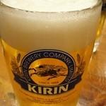 加賀屋 - 生ビール(中、600円)