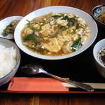 四川創作料理 凜 - 豆腐と豚肉のオイスターソース煮込み(本日のランチ)、750円