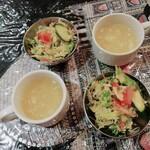 インド・ネパール料理 ナラヤニ - 料理写真:スープ・サラダ・チャイ付き