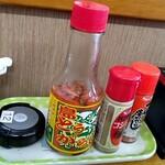 沖縄そば屋 - 卓上調味料