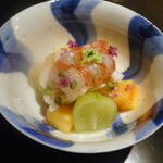Mikuri - くるみ餅、海老、マグロ、柿、ジュレ、茄子