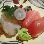 Mikuri - 造り 鰆昆布〆、鮪 スモーク醤油