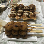 湯舟沢五平餅たこ焼 - 五平餅とたこ焼き
