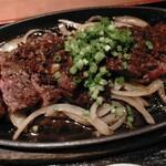 四季菜々 - 牛ハラミのビフテキ定食1200円税込