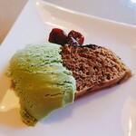 和洋食道 Ecru - がんづきと抹茶アイスとサルナシ