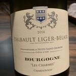 梅田 お初天神 大人の神戸牛焼肉 - 2014 Thibault Liger Belair Bourgogne Chardnnay Les Charmes