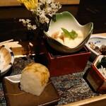 先斗町 魯ビン - 【先付】季節の冷菜五種盛り合わせ
