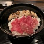 梅田 お初天神 大人の神戸牛焼肉 - 〆は鰻と和牛のお茶漬け