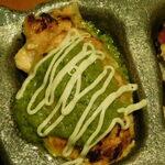 鶏豚きっちん - ニラマヨネーズ(つくねの盛り合わせ5種)